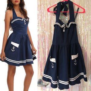 Hell Bunny Navy Motley Sailor Dress / Costume